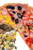 smaklig italiensk pizza Fotografering för Bildbyråer