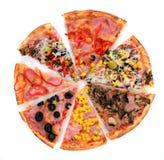 smaklig italiensk pizza Arkivbilder