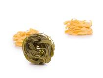 Smaklig italiensk tagliatellepasta Royaltyfria Bilder