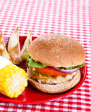 smaklig kalkon för hamburgare Royaltyfri Bild