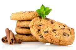 smaklig kanelbrun oat för kexar Fotografering för Bildbyråer