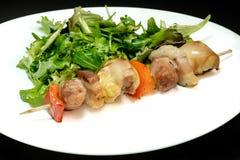 Smaklig kebab med sallad Royaltyfria Bilder