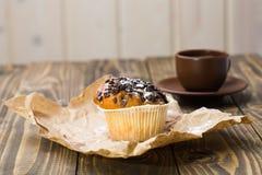 Smaklig läcker muffin och kaffe Royaltyfri Foto