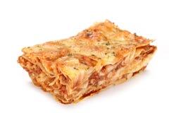 smaklig lasagne Arkivbilder