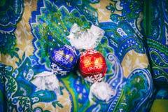 Smaklig Lindt Lindor choklad för två Arkivbilder