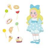 Smaklig mat vektor illustrationer