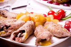 Smaklig meat släntrar och lappar av meat Royaltyfri Foto