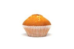 Smaklig muffin på vit bakgrund Fotografering för Bildbyråer