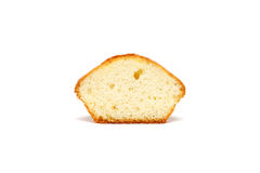 Smaklig muffin på vit bakgrund Royaltyfri Foto