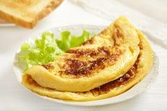 smaklig ny omelett royaltyfri fotografi