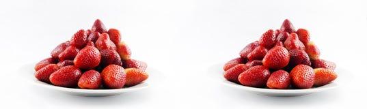 Smaklig ny röd jordgubbe arkivbilder