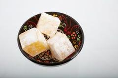 Smaklig orientalisk lokum för turkisk fröjd för sötsaker Royaltyfria Foton
