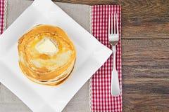 Smaklig pannkakabunt Fotografering för Bildbyråer
