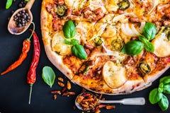 smaklig pizza Arkivbild