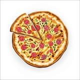 smaklig pizza Arkivfoto