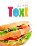 smaklig saftig smörgås Arkivfoto
