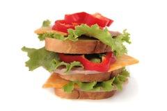 smaklig skinksmörgås Fotografering för Bildbyråer