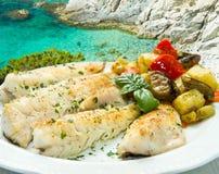Smaklig sund fiskfilé Royaltyfria Bilder