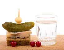 smaklig vodka för canaperyss arkivfoton