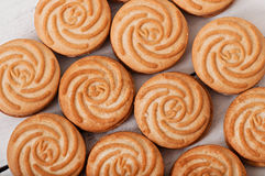 Smakliga bakade kakor fotografering för bildbyråer