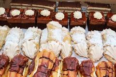 Smakliga cakes royaltyfri fotografi