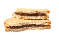 smakliga chokladcoockies Royaltyfria Bilder