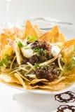 smakliga crunchy nachos Fotografering för Bildbyråer