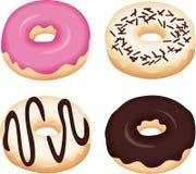 smakliga donuts Arkivbild
