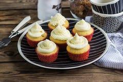 Smakliga hemlagade muffin Fotografering för Bildbyråer