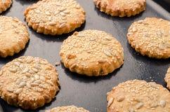 smakliga kakor Läcker hemlagad mat Sunt matlagningbegrepp royaltyfri bild