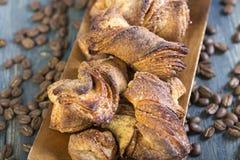 Smakliga kakor med kanel Fotografering för Bildbyråer