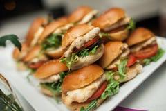 Smakliga mini- hamburgare Royaltyfri Fotografi
