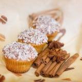 smakliga muffiner Arkivbild