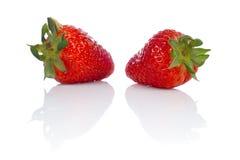 smakliga nya jordgubbar Fotografering för Bildbyråer