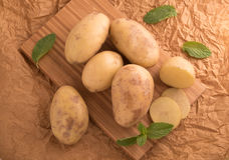 smakliga nya potatisar Royaltyfri Foto