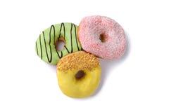 Smakliga och trevliga isolerade donuts Royaltyfri Fotografi