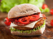 smakligt för feg fastfood för hamburgare varmt Royaltyfria Foton