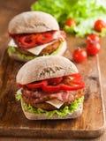 smakligt för feg fastfood för hamburgare varmt Royaltyfria Bilder