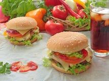 Smakowici hamburgery Fotografia Stock