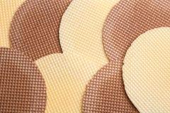 Smakowici opłatki jako tło, zbliżenie obrazy stock