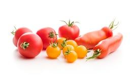 Smakowici różnorodni pomidory Zdjęcia Royalty Free