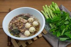 Smakowici wieprzowina kluski Tajlandia Fotografia Royalty Free