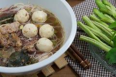 Smakowici wieprzowina kluski Tajlandia Obrazy Stock