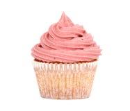 Smakowita babeczka z różowym mrożeniem Fotografia Stock