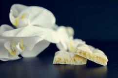 Smakowita biała porowata czekolada Obraz Royalty Free