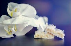 Smakowita biała porowata czekolada Zdjęcie Royalty Free