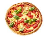 Smakowita domowej roboty Margherita włoszczyzny pizza zdjęcia royalty free
