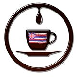 Smakowita Hawajska kawa royalty ilustracja