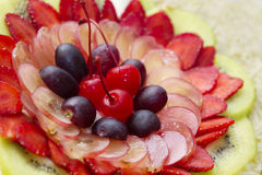 Smakowita i colourful owocowa sałatka Zdjęcie Stock