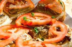 Smakowita kanapka z brzdąc Fotografia Stock